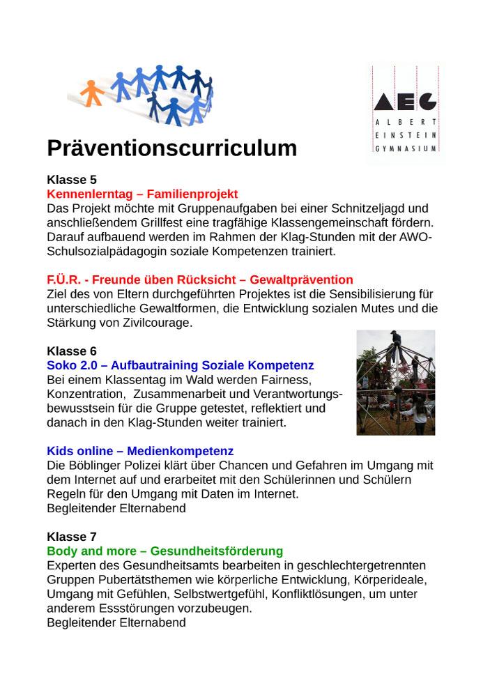 Präventionscurriculum